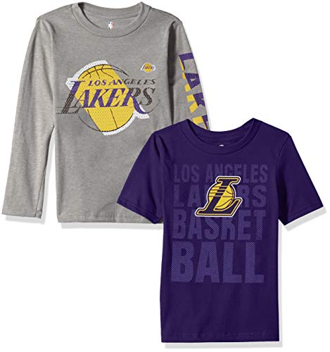 - NBA by Outerstuff NBA Kids & Youth Boys Los Angeles Lakers Short Sleeve & Long Sleeve Combo Pack, Multi, Kids Small(4)