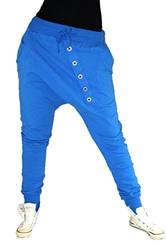 Boyfriend Harén Pantalón Oversize Pantalón Sweatpants Pantalones Algodón Tiempo Libre Pantalones Baggy Blau Jeans