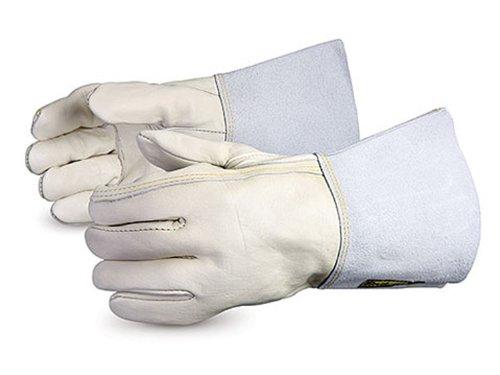 Superior 399OSSC4 Endura Cowgrain Split Leather Glove with Outseam Sewn, Work, Size 9 (Pack of 1 Dozen)