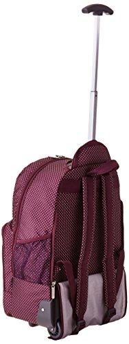Amazon.com: LeSportsac Luggage Rolling Backpack, Burgundy Pin Dot ...