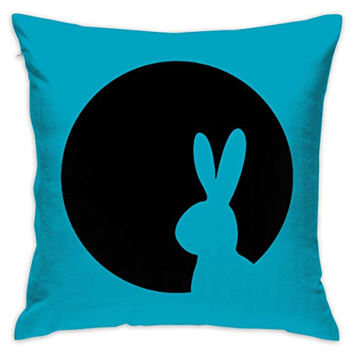 (Janvonne 18 X 18 Inch Moony Rabbit Square Decorative Throw Pillow Cases Cushion Covers for Home, Couch, Sofa, Or Bed, Modern Design)