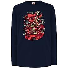 lepni.me Kids Boys/Girls T-Shirt The Food Hunter, Freddy - Horror Nightmare - Pirate Treasure Chest - Parody Design