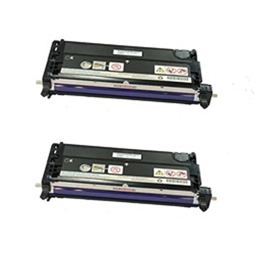 WORLDS OF CARTRIDGES Remanufactured Toner Cartridge Replacement for Xerox 106R01391 / 106R01395 (Jumbo :133% Higher Yield) (2-Pack: 2X Black) for Use in Phaser 6280 ()