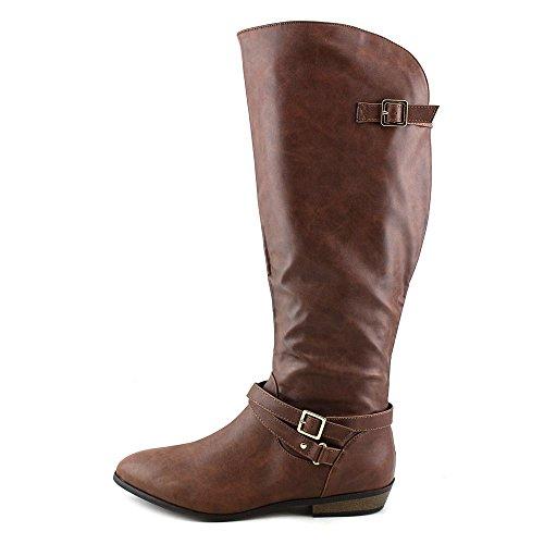 Materialet Jente Kvinners Capri Kne-high Boot Cognac
