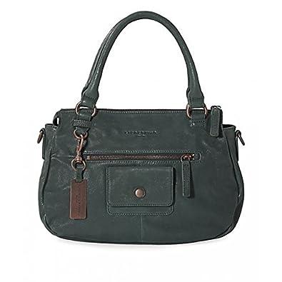 112a1393e88c Liebeskind Francine Vintage Pocket Leather Handbag in Aston Green   Amazon.co.uk  Shoes   Bags
