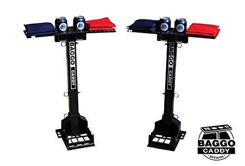 Baggo 1966 Official Caddy Drink and Bag Holder with Scorekeepers, 2-Pack