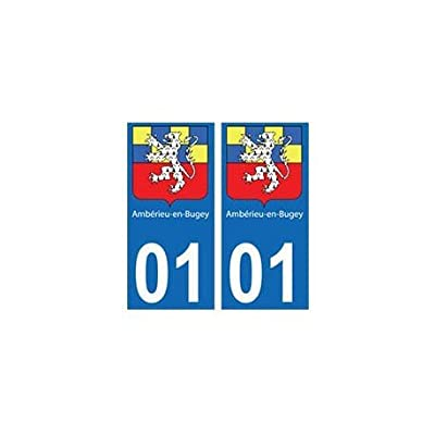 01 Ambérieu-en-Bugey ville autocollant plaque - droits Fournitures de bureau