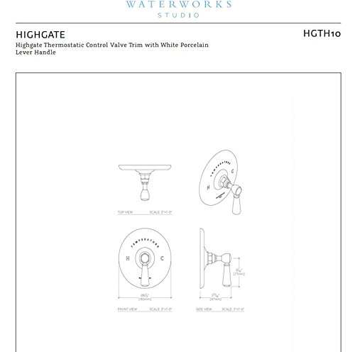 Waterworks Highgate Thermostatic Control Valve in Chrome by waterworks-studio (Image #3)
