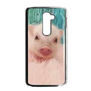 Custom dibujos animados Animal Lovely Pig Phone Case for LG G2
