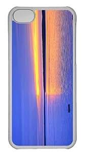 Customized iphone 5C PC Transparent Case - Strange Sunset Lawrence Kansas Personalized Cover