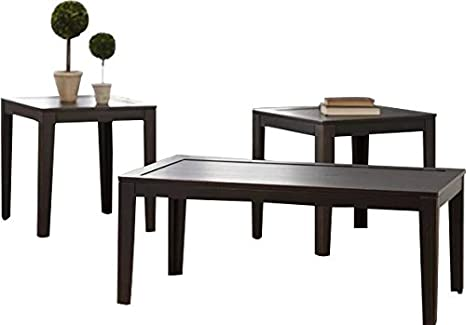 Fabulous Amazon Com Three Piece Coffee Table And Two End Tables Set Ocoug Best Dining Table And Chair Ideas Images Ocougorg