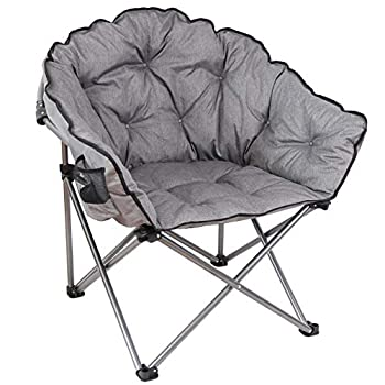 MacSports Padded Cushion Outdoor Folding Club Chair