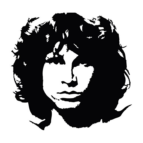 Jim Morrison Portrait (Jim Morrison Portrait Car Laptop Window Bumper Vinyl Decal Sticker, Die cut vinyl decal for windows, cars, trucks, tool boxes, laptops, MacBook - virtually any hard, smooth surface)