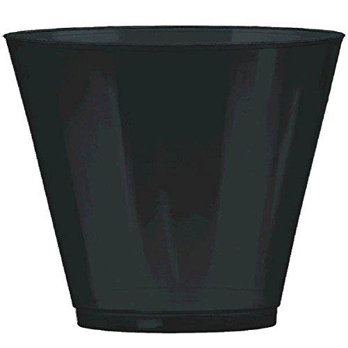 Black, Big Party Pack, Plastic Cups 9 oz, 72 Per Pack