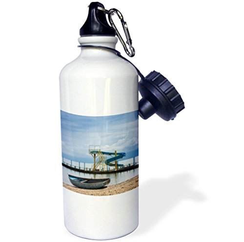 Danita Delimont - Piers - Albania, Lake Ohrid, Pogradec, Lake Ohrid, pier view - 21 oz Sports Water Bottle (wb_206093_1)