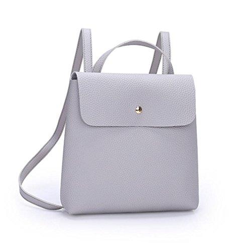 Soft Fashion Purse Bags Handle Satchels Bags Fashion Ba Bag Girls Backpack Color School Gray Backpack Shoulder Leather Mini Bag Handbags Zha Messenger Bag Travel Ladies Bag Women Girl Pure Zero 6AEgq