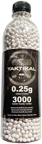Airsoft bbs that are Bio or Biodegradable bb, 3000 rounds of 0.25g in 6mm By Taktik