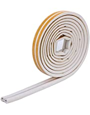 Soundproof Weather Stripping Door Kit,33FT(10M) Long Weather Stripping Doors and Windows Soundproofing Anti-Collision Self-Adhesive Weather Strip Rubber Door Seal Strip (D06MM, White)