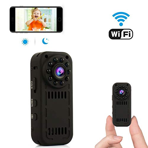 WiFi Hidden Camera Spy Camera Mini Wireless Nanny Cam for Home Security with Motion Detection and Night Vision for iPhone/Android Phone/iPad/PC
