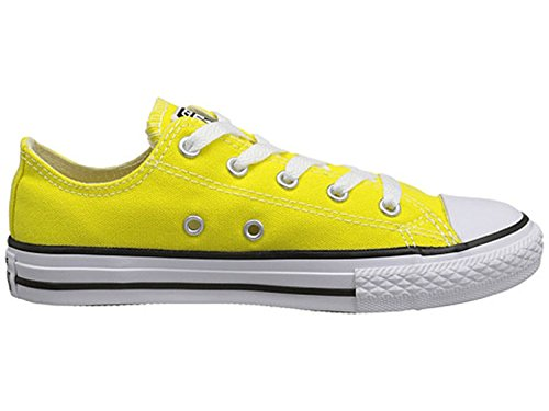 (Converse Girl's Chuck Taylor All Star Lo Top Basketball Shoe (1.5 Little Kid M, Fresh Yellow))