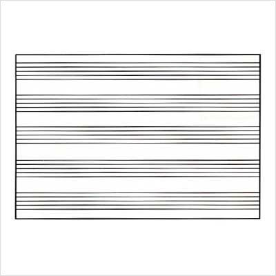 Marsh Pro-Rite 48X120 White Porcelain Markerboard With Music Staff, Aluminum Trim by Marsh