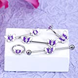 OUFER Butterfly Belly Rings 316L Surgical Steel