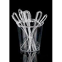 Fashionclubs 300pcs/set Disposable Plastic Sword Cocktail Picks Fruit Picks Party Supplies 3.34Inch (Clear)