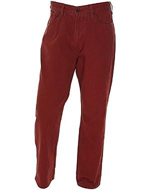 Men's Straight Leg Jeans (Biking Red)