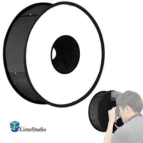 (LimoStudio AGG1813 Round Universal Ring Flash Diffuser 18