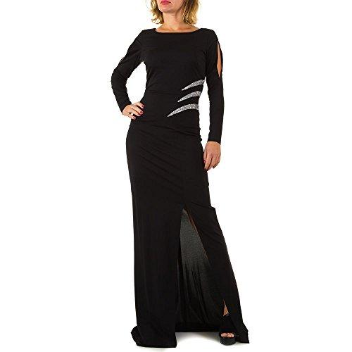 Abend bei Ital Schwarz Mont Design Strass Für Kleid Damen Vera Maxi q6nRtwWxwa