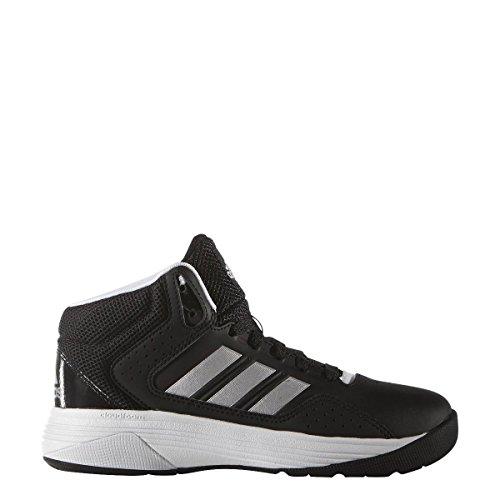 adidas Cloudfoam Ilation Mid K, Chaussures les Enfants et les Adolescents, Noir (Negbas/Plamat/Ftwbla), 36 EU