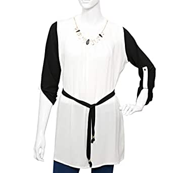 Blue Days Multi Color Polyester Round Neck Blouse For Women