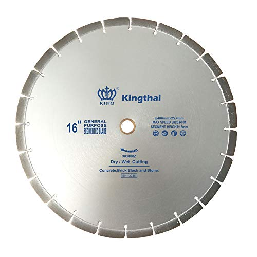 (Kingthai 16 inch Segmented Diamond Blade for Concrete Masonry with 1