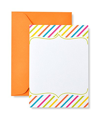 Stripes Invitation Kit (Bright Stripe Print at Home Invitation Kit)