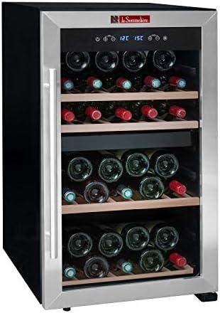 La Sommelière LS51.2Z - Botellero de ajuste a temperatura (50 botellas, dos zonas de temperatura), ocupa poco espacio[Clase de eficiencia energética B]