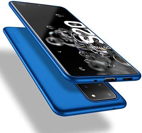 Samsung Galaxy S20 Ultra Case/S20 Ultra 5G Case,X-Level Slim Fit Soft TPU Ultra Thin S20 Ultra Mobile Phone Cover Matte Finish Coating Grip Phone Case for Samsung Galaxy S20 Ultra/S20 Ultra 5G-Blue