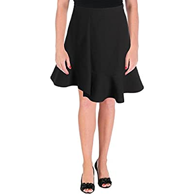 Carven Womens Crepe Ruffled Mini Skirt