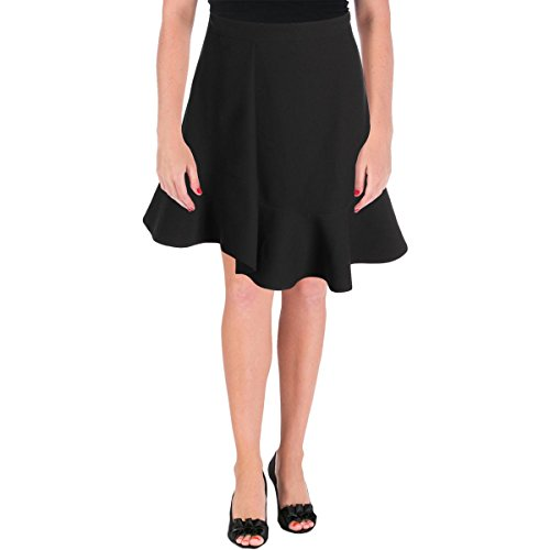 Carven Womens Crepe Ruffled Mini Skirt Black 40