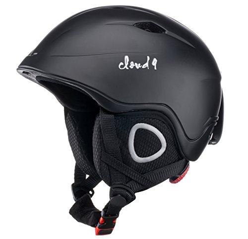 Cloud 9 - Professional Kids (Boys&Girls) Ski Helmet Polycarbonate Shell (Not ABS) High Impact Resistance Outdoor Snow/Sport Biking Snowboarding Ski Helmet Light Weight Adjustable Fit System