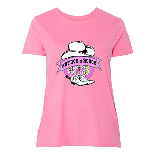 inktastic Cowgirl Matron Of Honor Women's Plus Size T-Shirt 1 (14/16) (Cowgirl Womens Pink T-shirt)