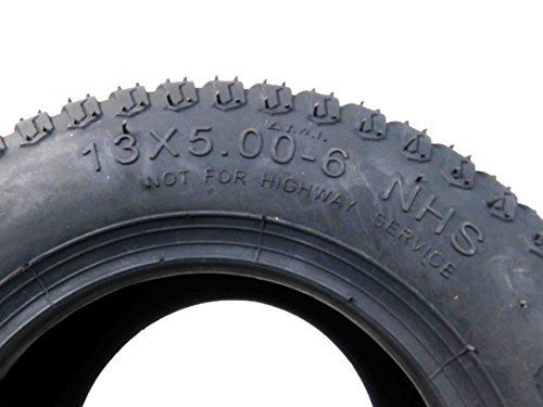 MASSFX Lawn Mower and Garden Tires 13x5-6 MO1356 4 PLY 3mm Tread 2 Tire Set by MASSFX (Image #4)