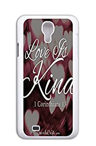 Mldierom fashion picture hard shell white case for Galaxy S4 infinite love b1