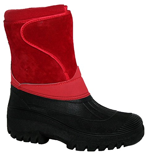 WARM LADIES Suede RIDING SNOW BOOTS SKI RAIN SHOWERPROOF STABLE WALKING WINTER HORSE YARD Red FARM NEW MUCKER TPawdqT