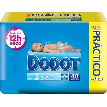 DODOT 12 HORAS SECO TALLA 2 (3 A 6 KILOS) 4 PAQUETES DE 40 UNIDADES ...