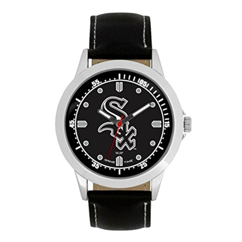 (Game Time MLB- Chicago White Sox Player Series Watch, Black, 44.00mm)