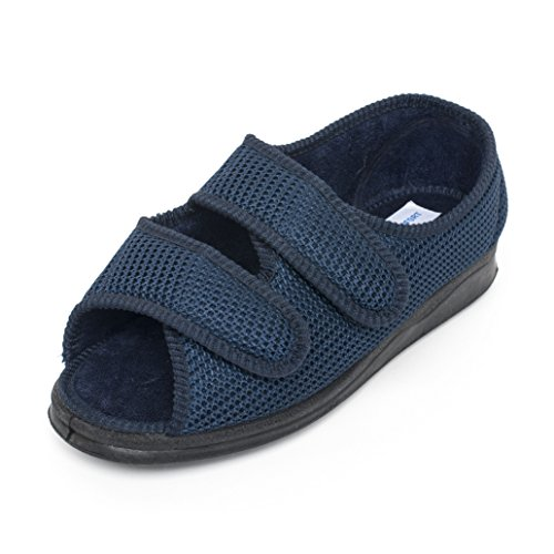 Creation Comfort Comfortable Sandals/Shoes Women and Men's Extra Wide Velcro Antimicrobial Adjustable Machine Washable (9) by Creation Comfort