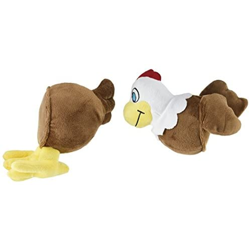 Zany Bunch Mixup Pull-Apart Chicken Plush Dog Toy with Squeaker hot sale 2017