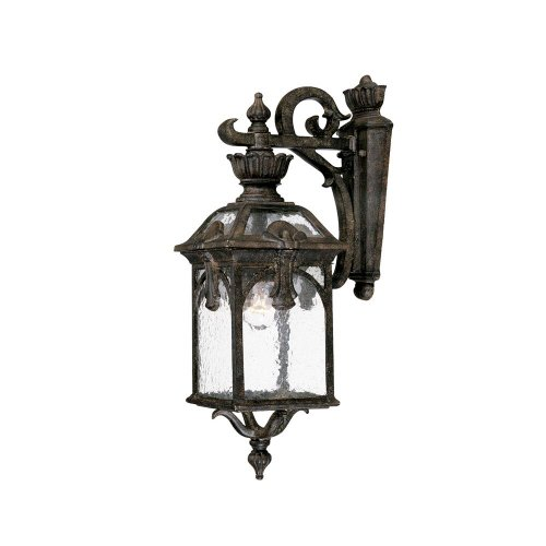 Acclaim 7102BC Belmont Collection 1-Light Wall Mount Outdoor Light Fixture, Black Coral (Collection Coral)