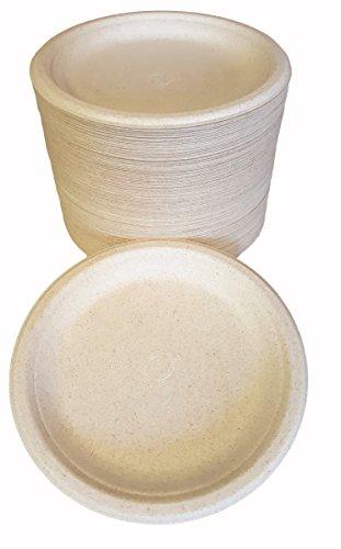 100% compostable and biodegradable 9  DISPOSABLE PLATES - (125 COUNT) made from bamboo u0026 sugar cane  excellent strength  sc 1 st  Eco Friendly Products & 100% compostable and biodegradable 9
