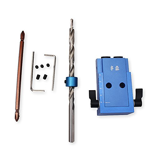 HITSAN Woodworking Tool Pocket Hole Jig with Toggle Clamp and Step Drill Bit One Piece by HITSAN